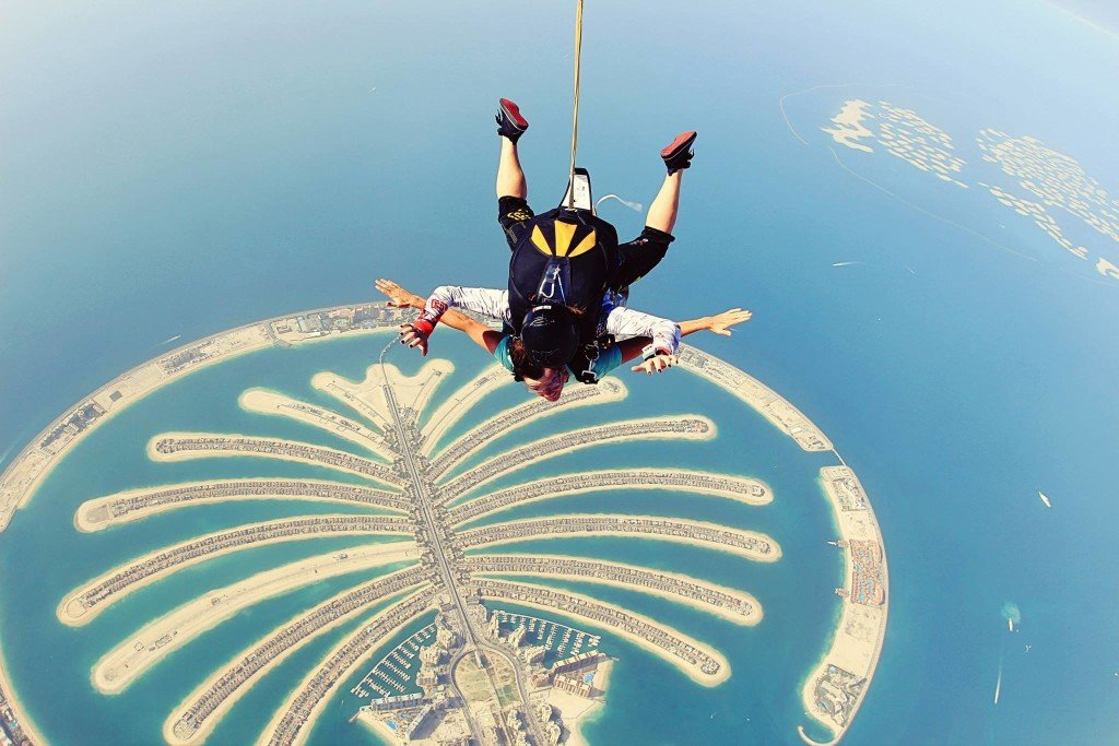 Sky Diving, The Palm In Dubai Adventure travel ideas