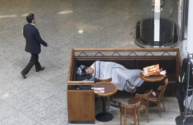 Sleep in public