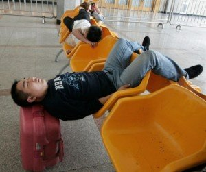 Sleep in public