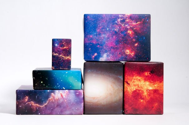 Space Themed Gift Wrapping Paper Beautiful Galaxy