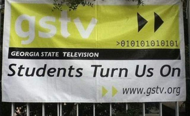 Students Turn Us On Funny Signs
