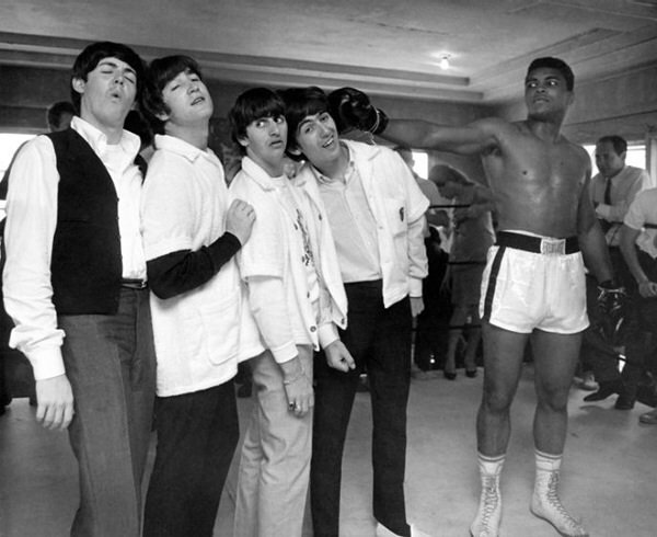 The Beatles and Muhammad Ali Rare Photos