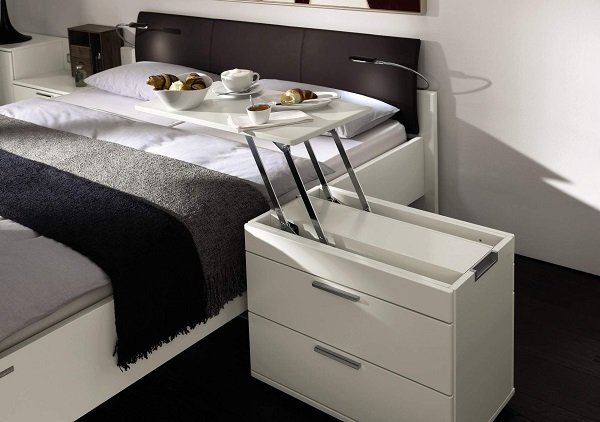 The Never-Get-Out-Of-Bed Table Cool Inventions