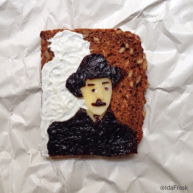 The great Portugese writer Fernando Pessoa on toast Food Art