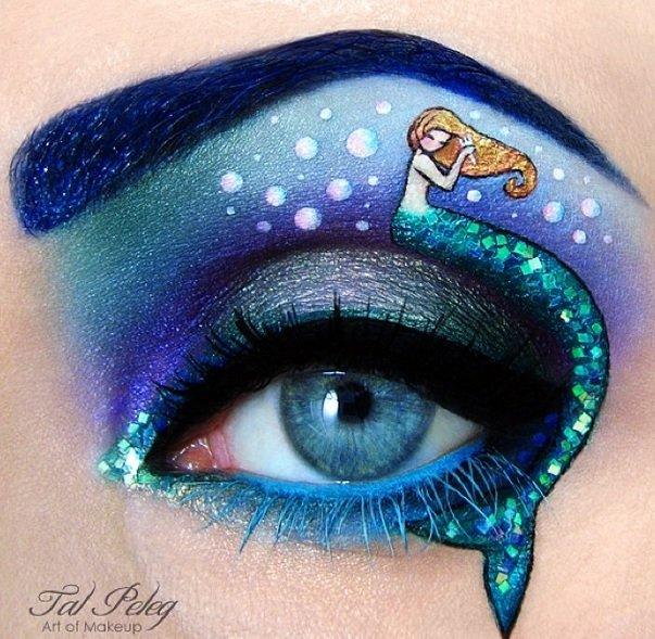The little mermaid Eye Makeup