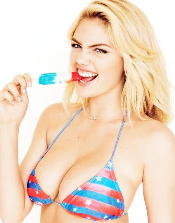 This Ice cream didn't look so beautiful before Kate Upton