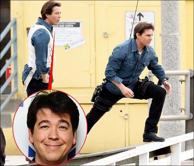 Tom Cruise & Michael McIntyre Celebrities Stunts