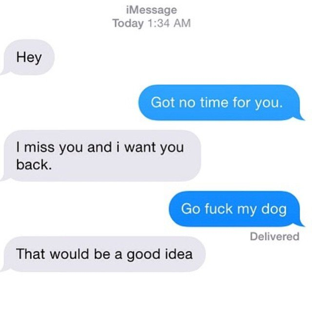 Very weird suggestion Ex Texts