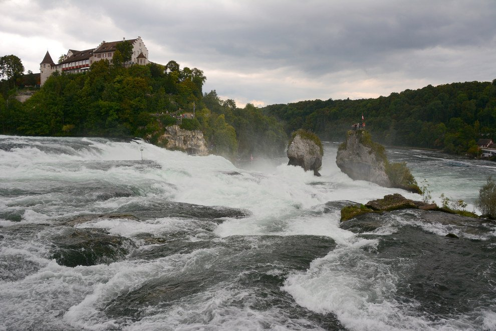 Visit Rhine Falls - largest plain waterfall in Europe Stunning Switzerland