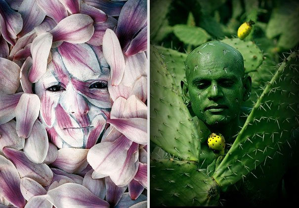 Women are flowers, but Men are cactus. Is it justified Body Painting
