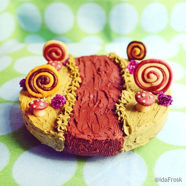 Yummy chocolate cake Food Art
