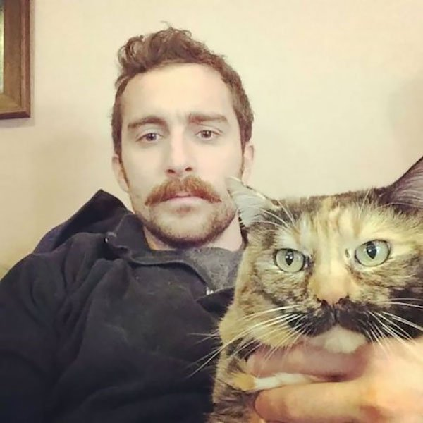 best-mustachioed pair Pet and Owners