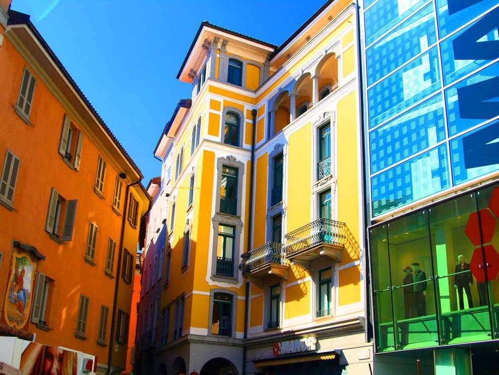 colorful buildings Stun Switzerland