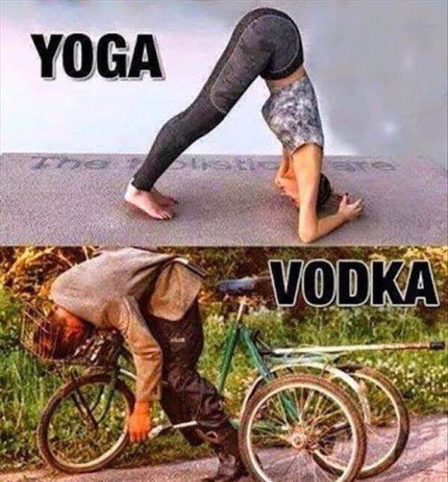 yoga vs vodka - Same Output Hilarious Facts