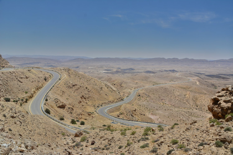 Amazing Highway at Negev Desert Beautiful Israel