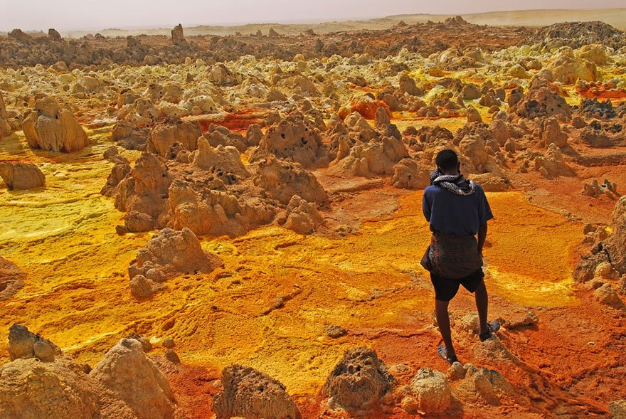 Dallol Volcano, Ethiopia Mysterious Places