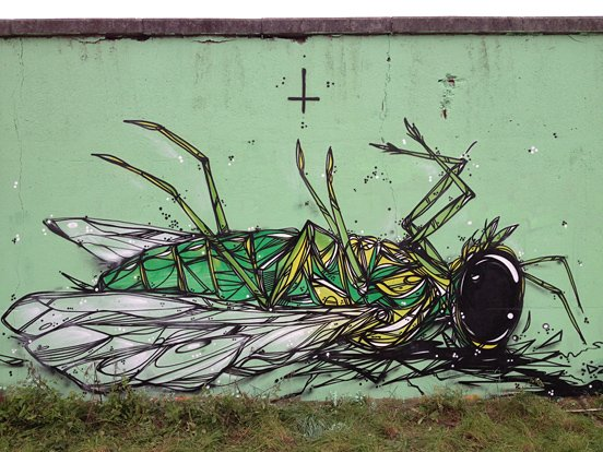 Dead Insect Animal Mural