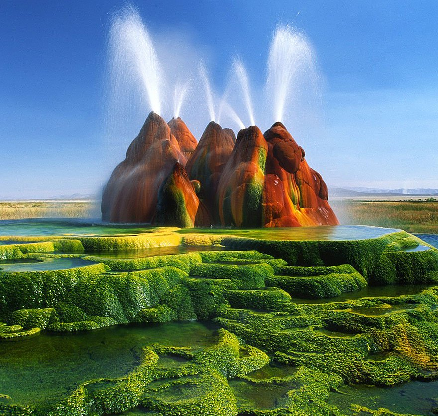 Fly Geyser, Nevada, Usa Mysterious Places