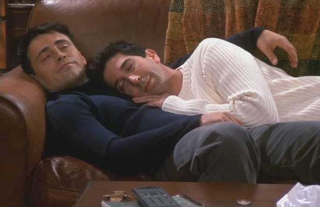 Joey and Ross, Friends After Sex Selfies