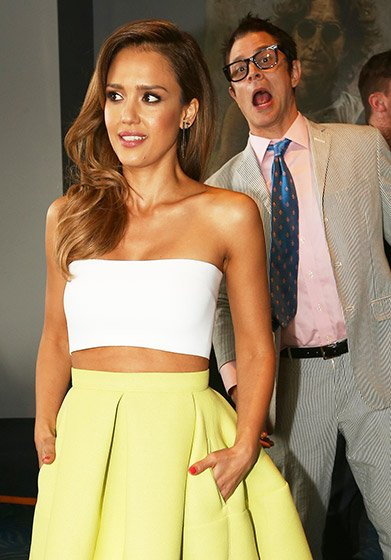 Johny Knoxville and Jessica Alba Celebrity Spoilers