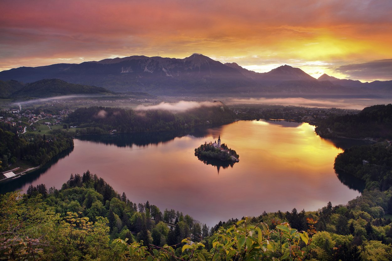 Peace waits for you Lake Bled of Slovenia