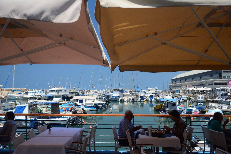 Restaurant at Jaffa Port Beautiful Israel