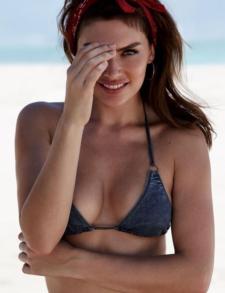 Alyssa Miller 3 Short Jeans Bikini Top