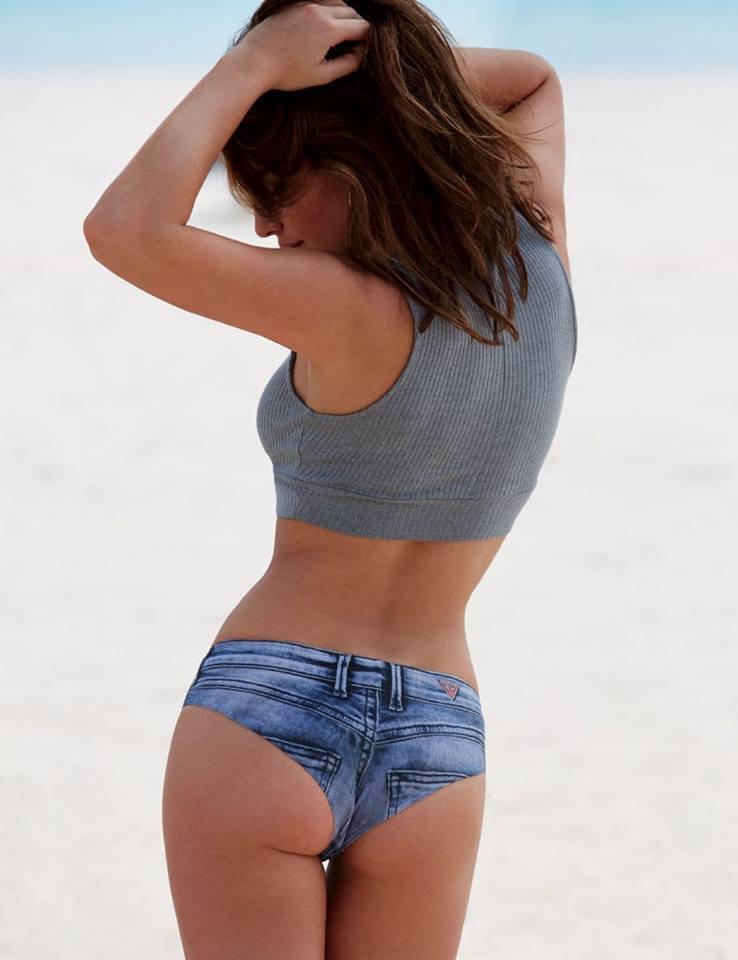 Alyssa Miller 3 Short Jeans Bikini