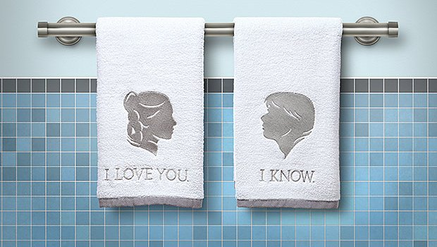 Star Wars Gifts 27 Leia and Han towels