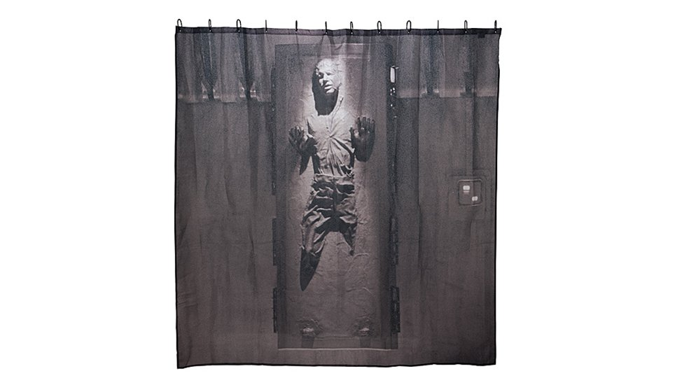 Star Wars Gifts 37 Han In Carbonite shower curtain