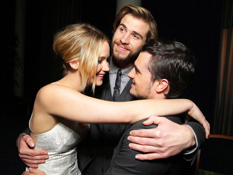 The Hunger Games Revealed - Jennifer Lawrence Josh Hutcherson and Liam Hemsworth