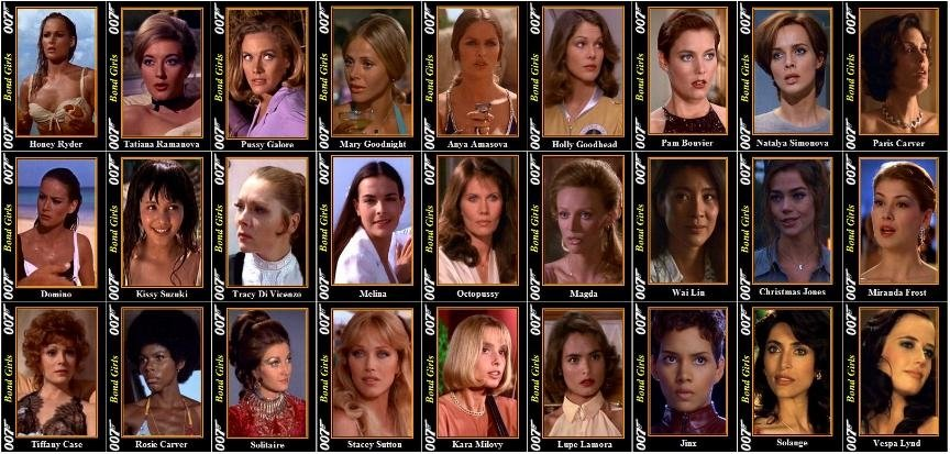 Bond Girls Evolution