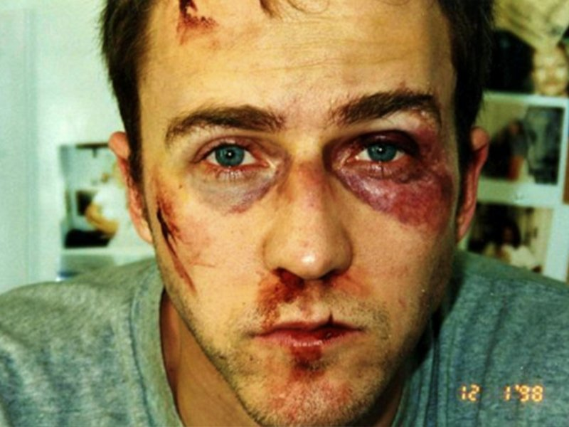 Fight Club Surprising Stories From Behind the Scenes - Norton's Makeup
