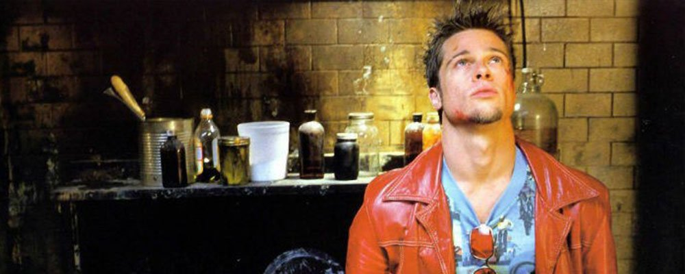 Fight Club Surprising Stories From Behind the Scenes - Tyler Durden looks up