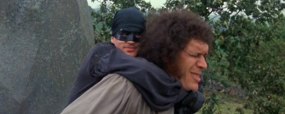 The Princess Bride Fun Facts From Behind the Scenes - Man in Black Strangles Fezzik