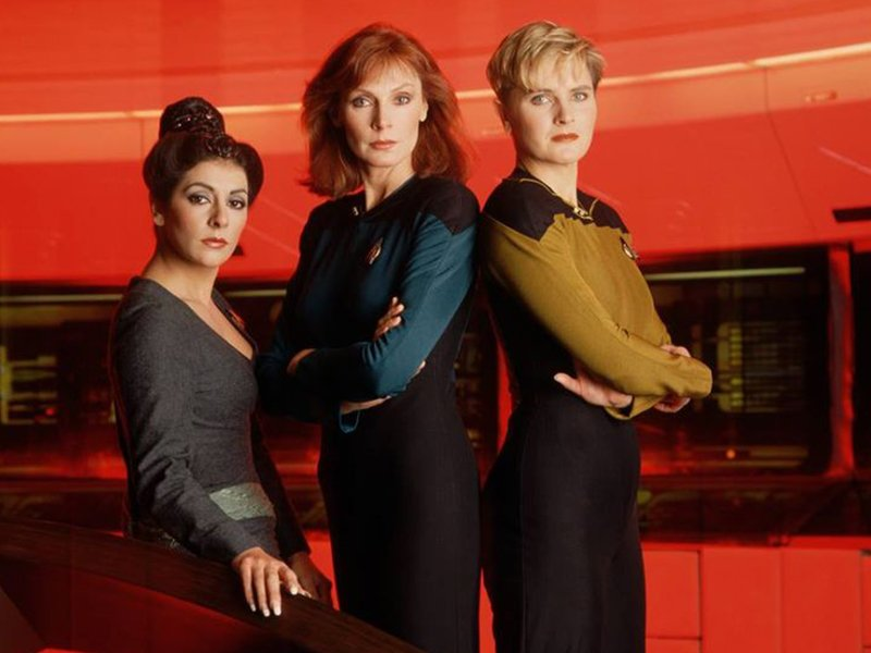 Star Trek the Next Generation Tales From the Set - Troi Crusher and Yar