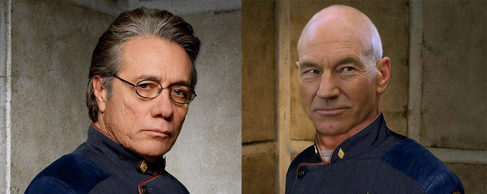 Star Trek the Next Generation Tales From the Set - Adama and Picard