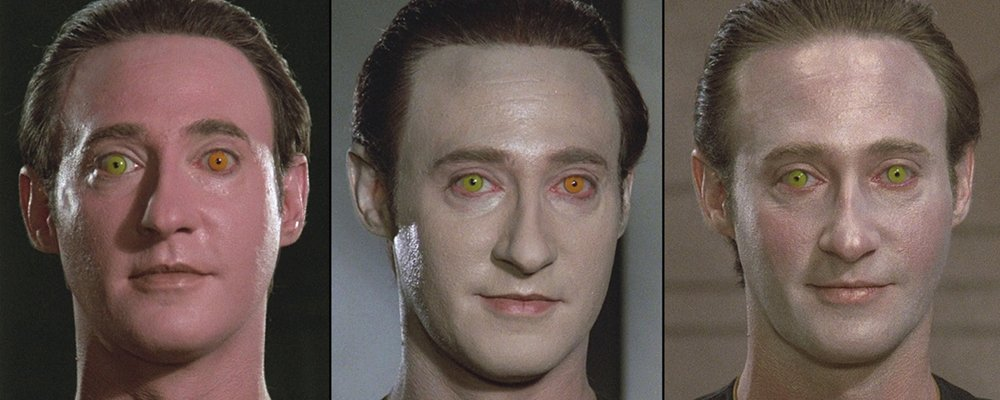 Star Trek the Next Generation Tales From the Set - Data Makeup Test