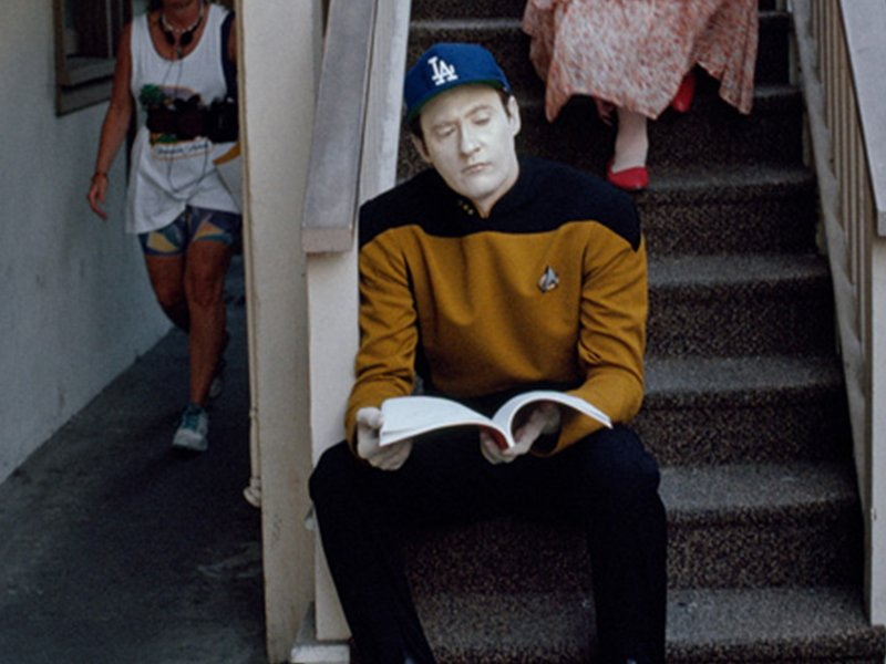 Star Trek the Next Generation Tales From the Set - Data in Baseball Hat