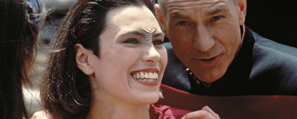 Star Trek the Next Generation Tales From the Set - Picard and Ro Laughing