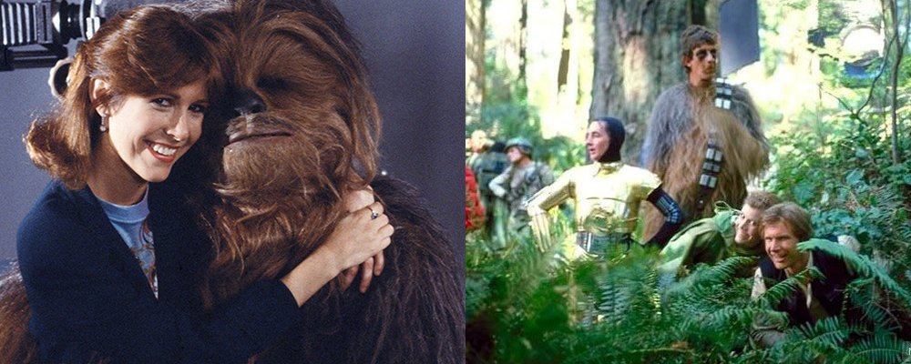 Star Wars Secrets Episode VI Return of the Jedi - Chewbacca Leia Behind Scenes
