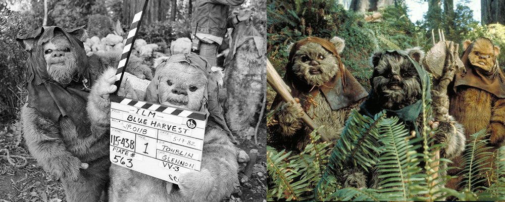 Star Wars Secrets Episode VI Return of the Jedi - Ewoks Behind Scenes Blue Harvest