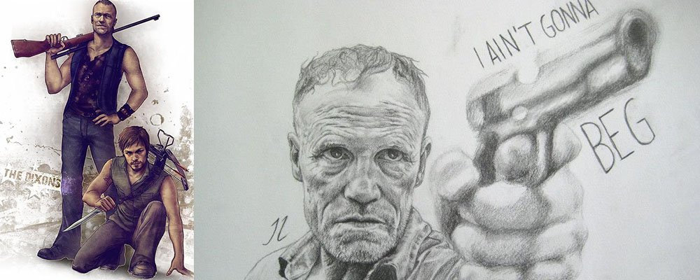 The Walking Dead Surprising Stories From Behind The Scenes - Merle Daryl Dixon Brothers Art