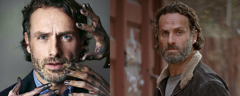 The Walking Dead Surprising Stories From Behind The Scenes - Rick Zombie Hands Beard