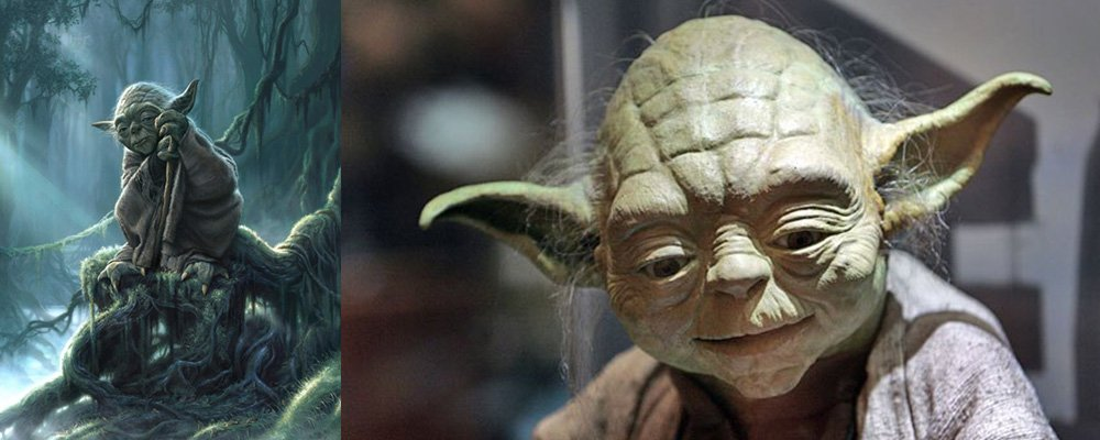 Star Wars Episode VI Return of the Jedi - Yoda Puppet Art