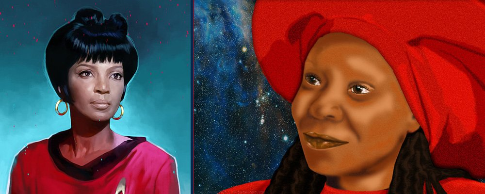 Star Trek The Original Series Secrets - Uhura Guinan Art