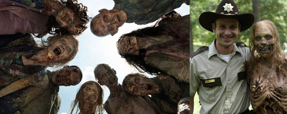 The Walking Dead Surprising Stories From Behind The Scenes - Walkers and Rick