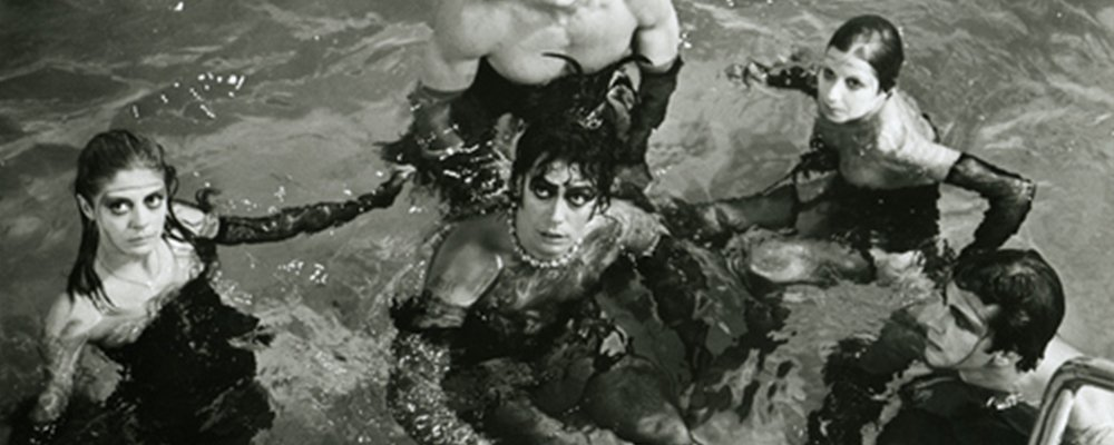 Rocky Horror Picture Show Strange Stories From Behind the Scenes - Cast in Pool