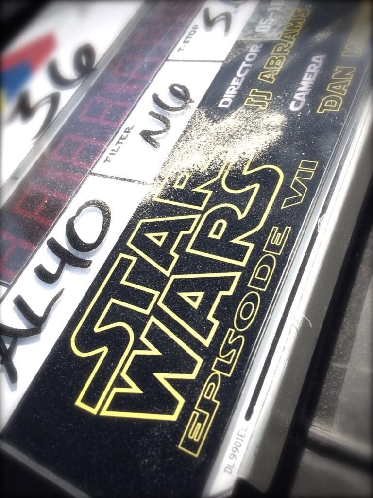 Star Wars VII The Force Awakens 34 - a photo of the slate from the first day of photography