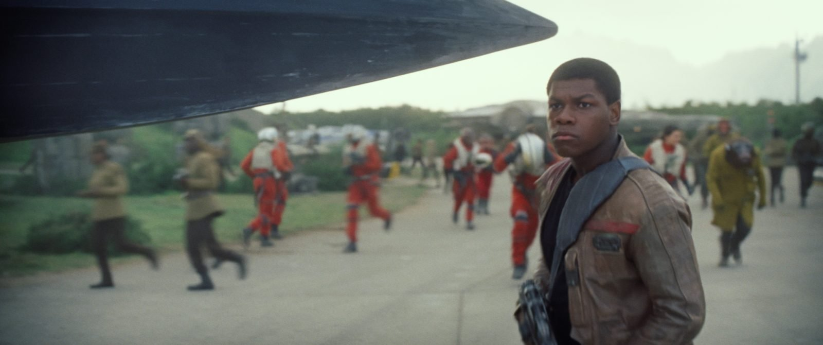 Star Wars VII The Force Awakens 4 - Finn with Resistance Soldiers